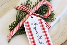 Christmas Table Decorations / Christmas table ideas and inspiration