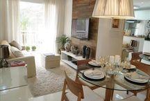 sala integrada com sala de jantar