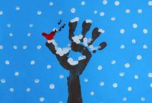 Noël peinture main et pied