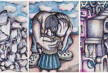 Benyounès Semtati. Dessins au Bic 6 couleurs / Les œuvres graphiques de Benyounès Semtati