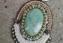 Bead embroidery soutache medals
