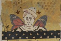 """Butterfly Clowns appear in June issue of Somerset Studio Gallery / Mixed Media with a circus theme"