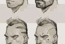 ansikten eller skisser