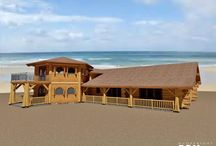 Bonaire Island Project / A stunning western red cedar 3757 sq.ft. log home situated on #Bonaire Island, an old Dutch colony north of #Venezuela. This is the first log home being built in the area of the #ABCIslands. #loghomedesign #floorplans