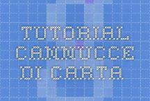 tutorial lavori cannucce di carta