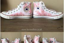 Custom Converse and Lace converse / Custom converse, custom high tops, bespoke converse, lace converse