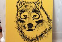 Wolf Drawings/Paintings