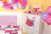 Hello Kitty Rainbow Party Ideas / Hello, pretty kitty! Treat your fashionable feline to a Hello Kitty Rainbow birthday party that's sure to add a pop of color to her special day.