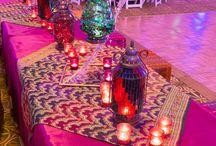 Indian Wedding Moodboard / Fushia and Electric Blue Wedding Moodboard for client