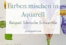 Aquarell Ideen | BloggerInnen Gruppenboard / Aquarell Tipps und Ideen von BloggerInnen  Du möchtest mitmachen? Toll, schreibe mir einfach an info@geschesanten.com