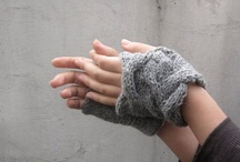 Rumpled Grey Fingerless Warmer