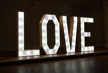 Light up LED Letters / LED Light up Letters or numbers for hire in the South of England including London.  Perfect for a Wedding or Party Celebration!