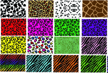 ANIMAL PRINT CUSTOM PATTERNS / Animal Print Patterns available in heat transfer (htv) material and Permanent Adhesive (sign vinyl).