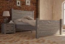 Niebanalne łóżka drewniane / Piękne łóżka z litego drewna - sosnowe, świerkowe, dębowe w stylu rustykalnym, nowoczesnym, prowansalskim i wielu innych.