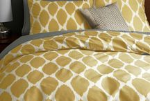 Yellow and Grey Master Bedroom