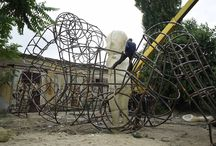 Alexander Milov. / Ukrainian sculptor, blacksmith, and designer Alexander Milov has produced a large wire-frame sculpture that features the forms of children that glow when day turns to night.  -----------------------------------------------------------------------------  SULEMAN.RECORD.ARTGALLERY: https://www.facebook.com/media/set/?set=a.402920029918022.1073742011.286950091515017&type=3  Technology Integration In Education: