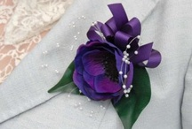 Purple / Wedding flowers, dresses and accessories in purple colours.