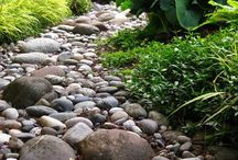 Dry creek bed / River Rock bed