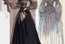 отрисованные коллекции одежды