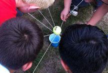 Team-building / Nuorten Akatemiassa olevien TET:iläisten pinnailuja ryhmäytymiseen liittyen.