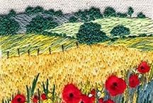 Broderie paysages