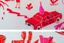 Embroidery & Illustration / Stunning Contemporary Embroidery from illustration