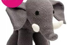 gehäkelter Elefant