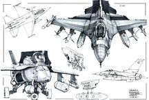 Technical sketches / Sketches of Aircrafts or Vehicles (Sci-fi/Future etc..) (this type of sketches is good..c: )