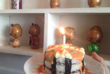 Sushi-ya / B'day cake