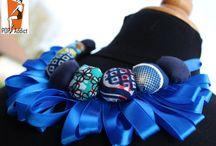 Mes créations (bijoux et accessoires) / bijoux, bagues, colliers, boucles d'oreille, broche, trousse, ceinture, pochettes, sac, châle, étole