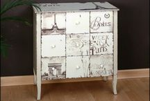 Decoupage and painted frniture