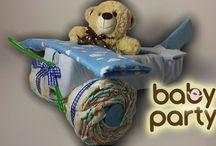 Plienkové torty - Dopravné prostriedky / Plienkové torty v tvare dopravných prostriedkov pre najmenších :) vyberte si plienku a farby... o zvyšok sa Baby party postará.