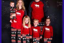 Christmas outfits mom kids family