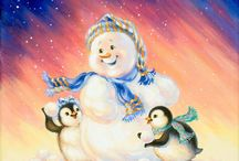 Снеговики,пингвины, ббел.медведи