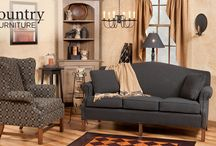 Country Upholstered Furniture / Comfortable and superior quality colonial furniture made in North Carolina.