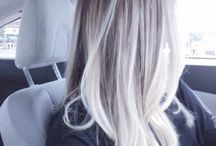 blond ombre balayage platinum