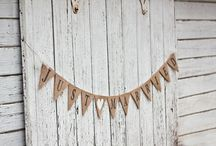 burlap garland / by burlap projects