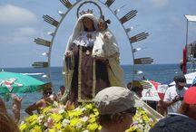 Procesiones marítimas en Gran Canaria, la Virgen del Carmen en la playa de Las Canteras. / Como cada año, el último sábado de julio (mes de la Virgen del Carmen) se celebra en la playa de Las Canteras de Las Palmas de Gran Canaria. a nuestro entender es una de las mejores playas urbanas del mundo.