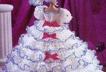 Barbie crochet Ball gown Free pattern