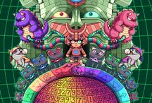 Pixel inspiration / Paul Robertson's awesome art