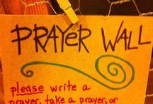 prayer wall / by Rachel Pearson