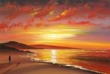 Sunsets / Paintings of Sunsets by British Artist Pete Rumney