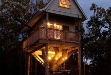 Design Ideas - Yurts, Cabins, Tree-houses, Tents and Ti-pis / by Jennifer Jackson