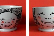 tazas ilustradas