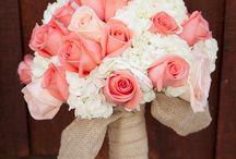 Coral & White wedding