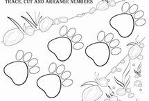 Trace, Cut, and Arrange Numbers