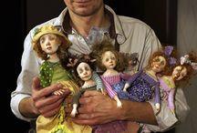 Soft sculpture dolls