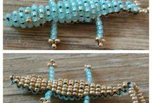 Dekorace / Bead crocodile #crocodile #beads