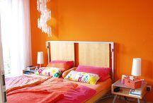 Oranje in de slaapkamer