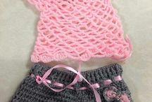 camiseta y pantalón corto crochet